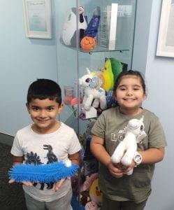 Campbelltown Family Dental Care Rewards cabinet happy children