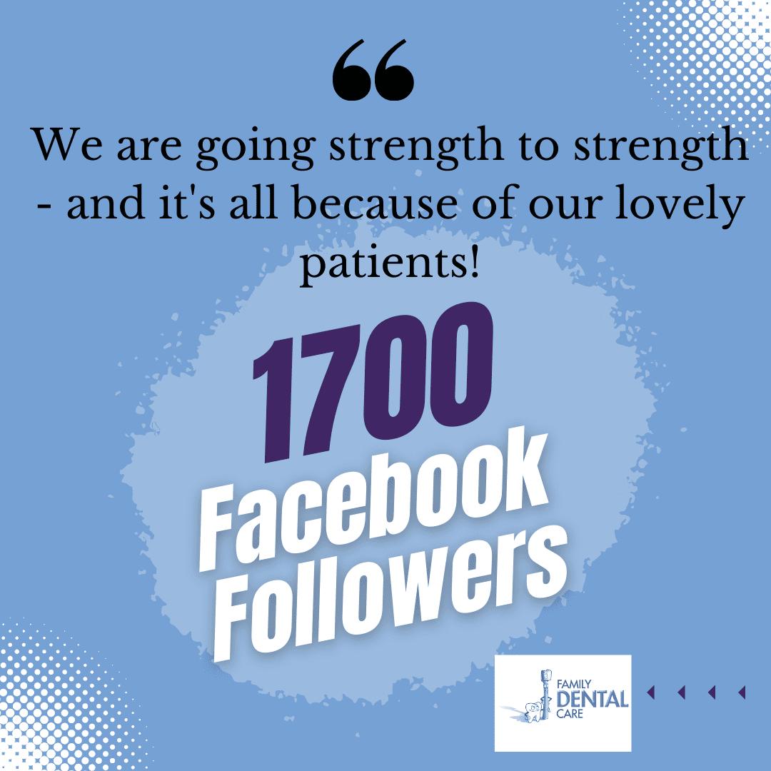 Campbelltown Family Dental Care 1700 Facebook followers